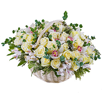Букет Luxury: Розы и орхидеи