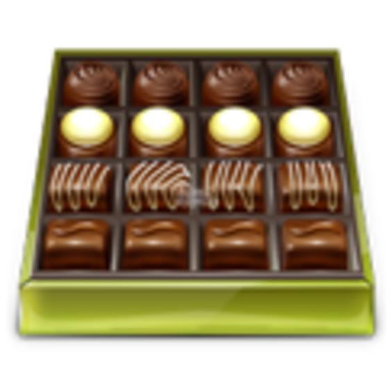 Коробка дорогого шоколада