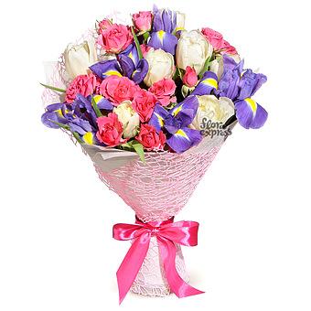 Букет Мармелад: Тюльпаны и розы