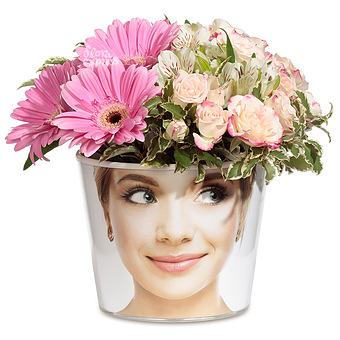 Букет Бабочки в моей голове: Герберы и кустовая роза