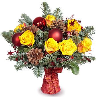 Букет Рождественская сказка: Розы