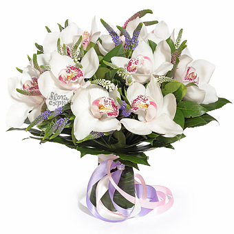 Букет Нефела: Орхидеи и вероника