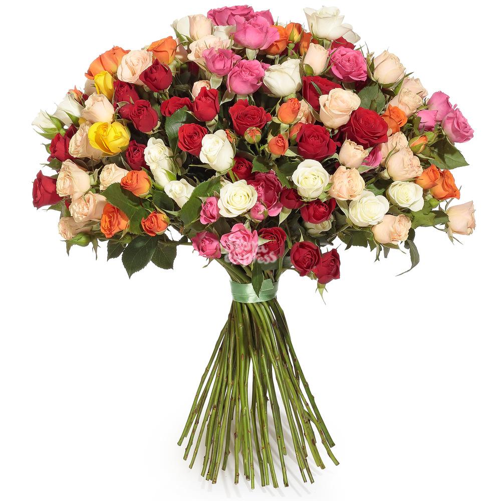 Букет «Flora Express» Микс кустовых роз фото