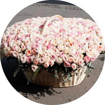 Букет Море пионовидных роз